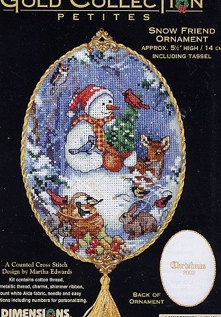 Snow friend ornament cover