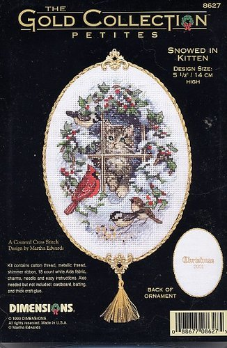Snowed in kitten ornament cover