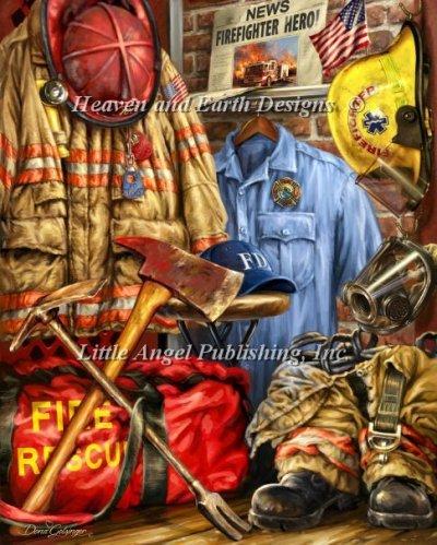 Hometown hero firefighter by dona gelsinger