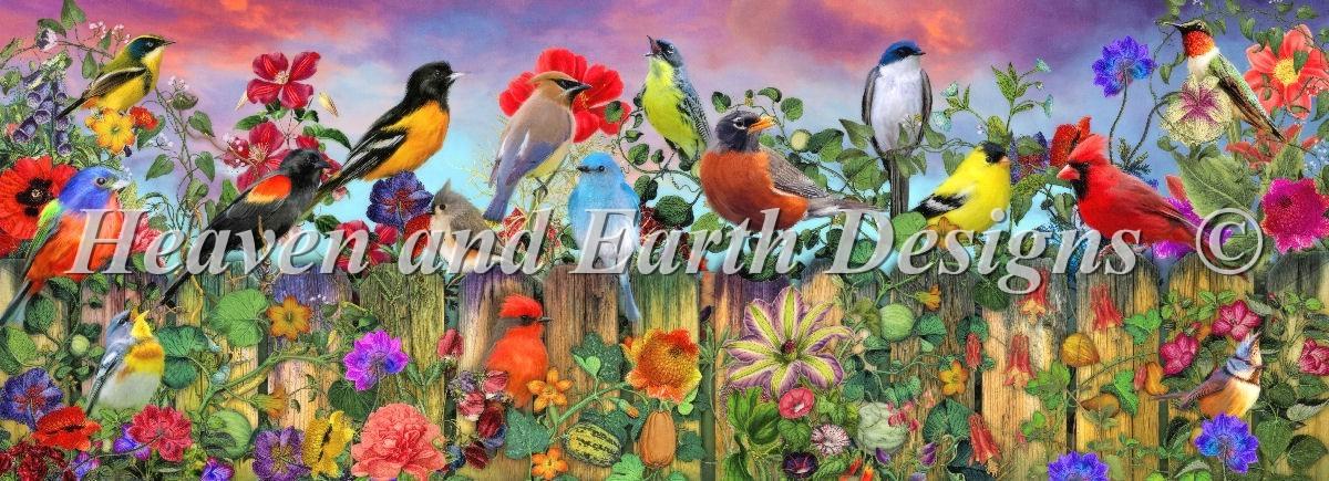Birds and blooms garden